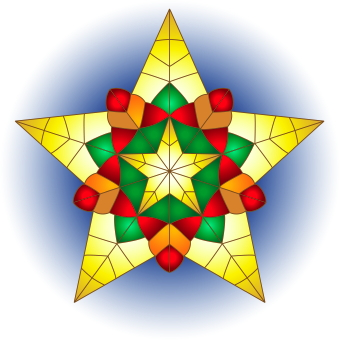 Clip Art Of A Christmas Star .-Clip art of a Christmas star .-8