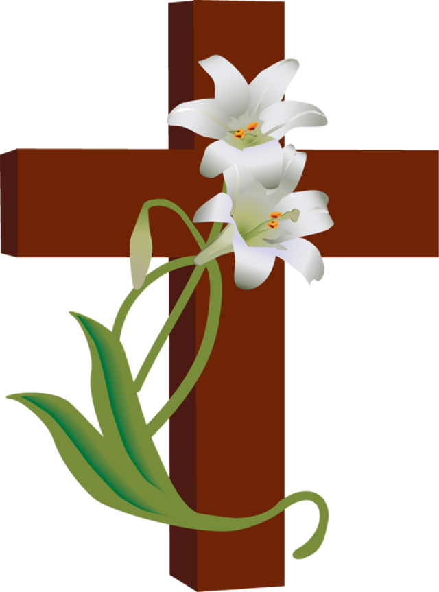 Clip Art of a Cross with White .