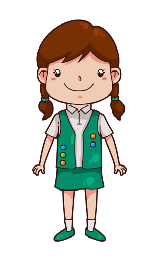 Clip art of a girl clipart image