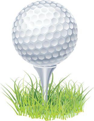 Clip Art Of A Golf Ball On A .-Clip Art of a Golf Ball on a .-0