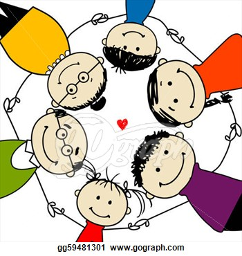 Clip Art Of A Happy Family Cli Family Happy Family Clipart Happy
