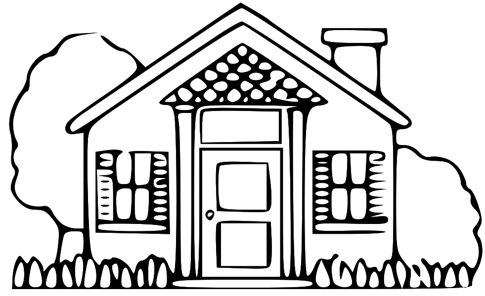 Clip art of a house clipart image