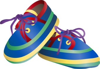 Clip Art Of A Pair Of Colorful Baby Shoe-Clip Art Of A Pair Of Colorful Baby Shoes-1