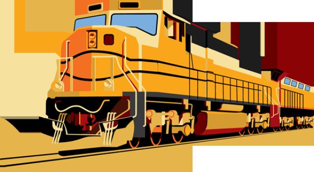 Clip Art Of A Passenger Train