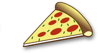 Clip Art Of A Piece Of Pizza With Cheese And Pepperoni