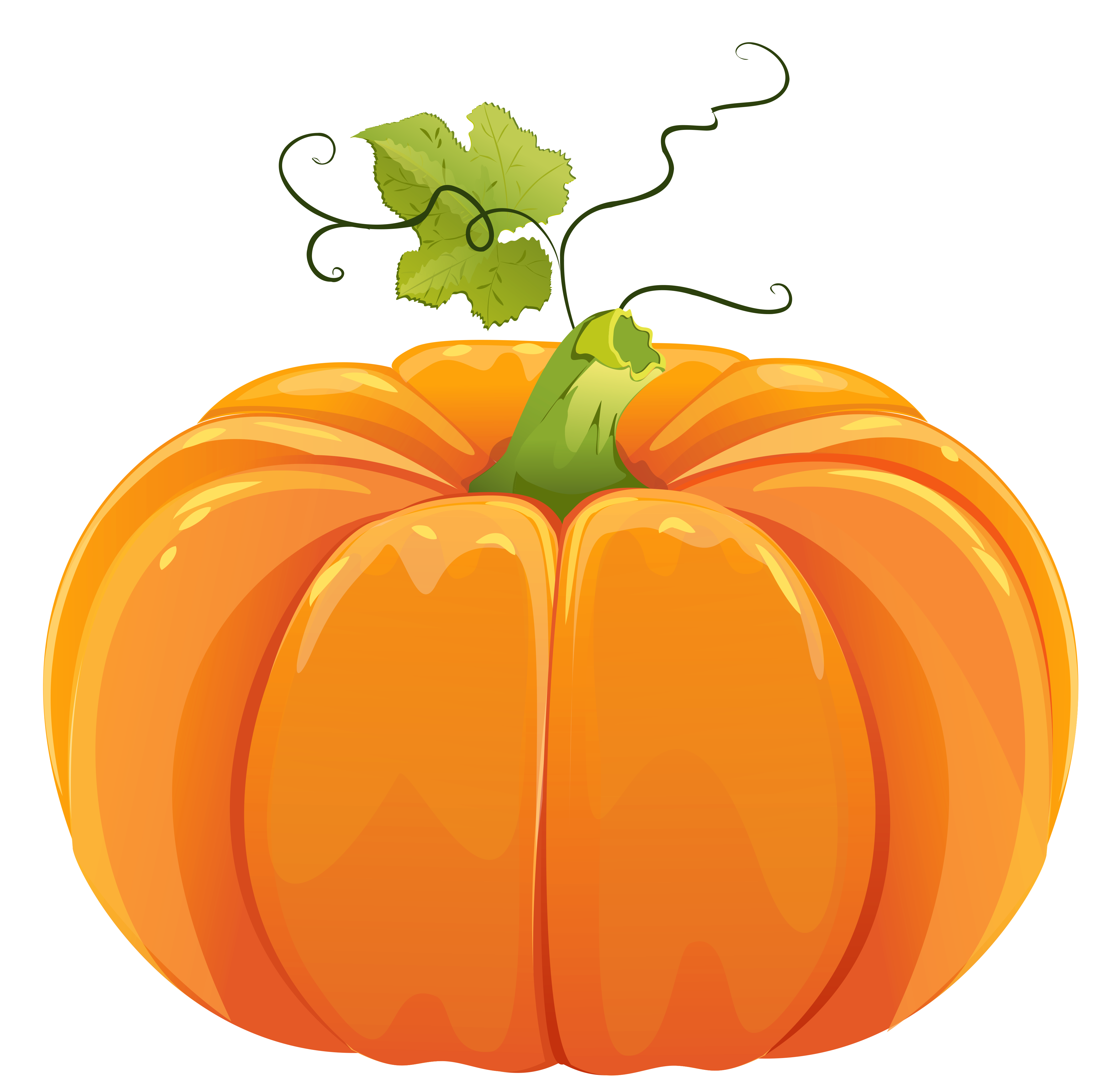 Clip art of a pumpkin