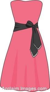 Clip Art of a Summer Dress