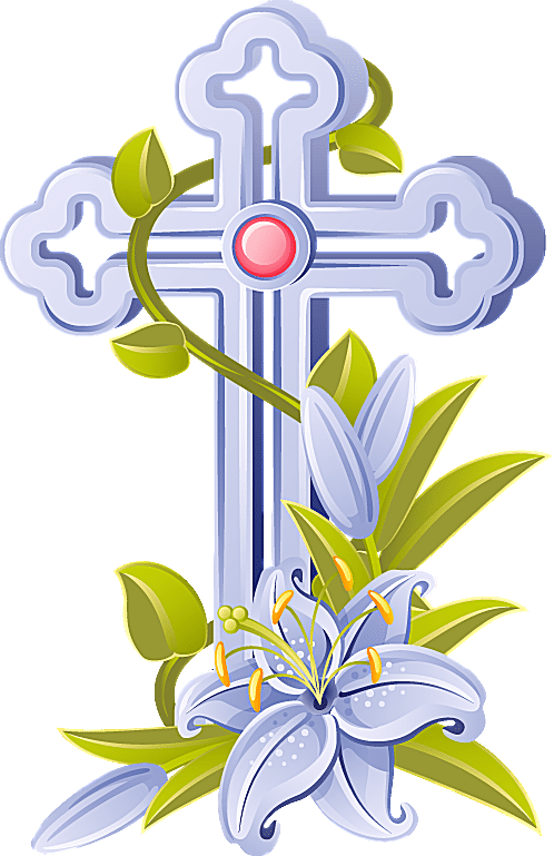 Clip Art of an Easter Cross