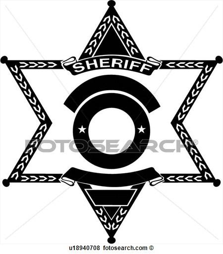 Clip Art Of Badge Cop .