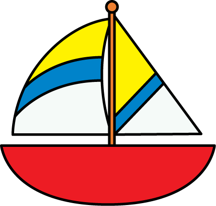 Clip art of boat clipart image