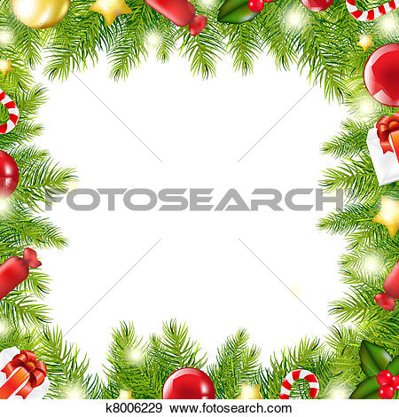 Clip Art Of Christmas Border K0646292 - -Clip Art of Christmas Border k0646292 - Search Clipart, Illustration Posters, Drawings, and EPS Vector Graphics Images - k0646292.jpg-10