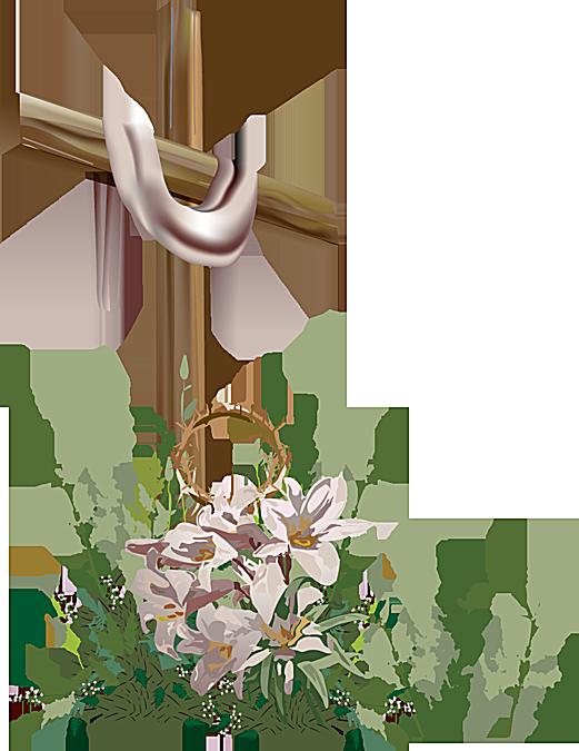 Clip Art of Easter Cross 2