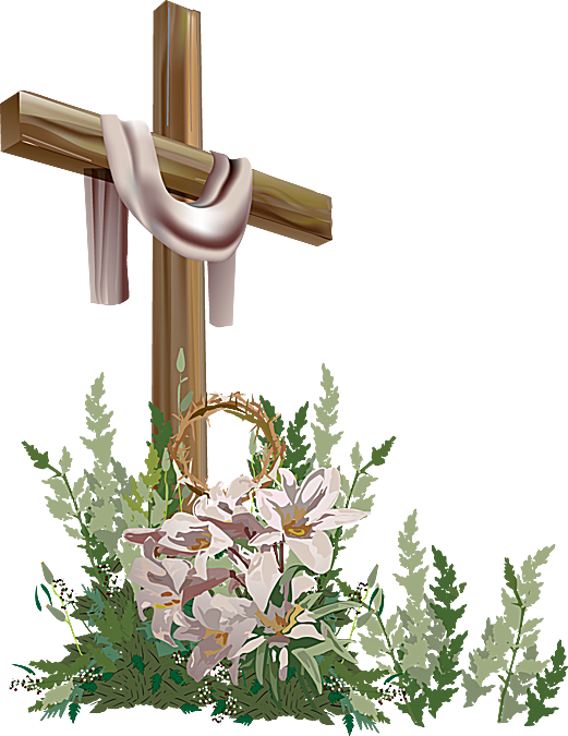Clip Art of Easter Cross 2