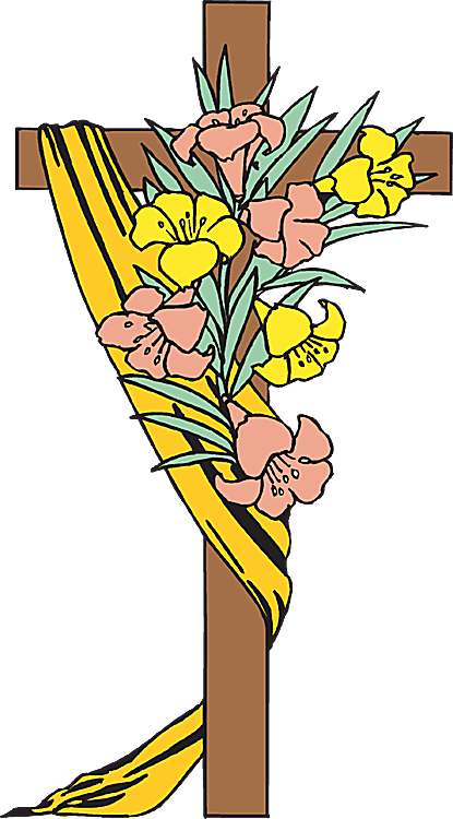 Clip Art of Easter Cross 4