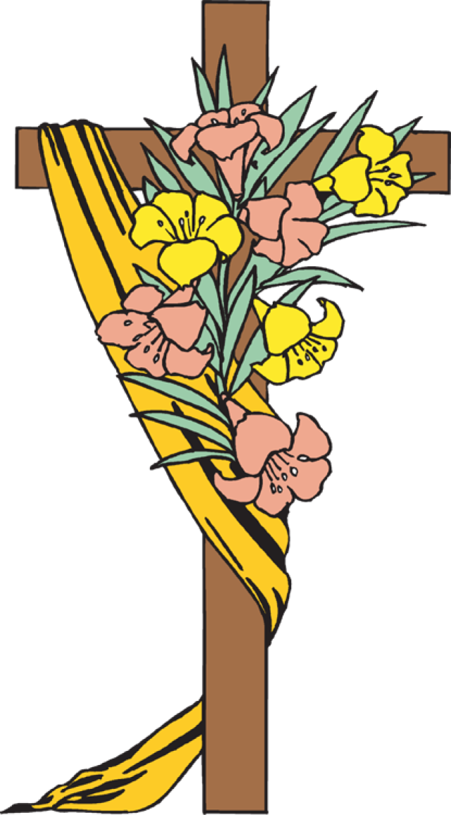 Clip Art Of Easter Cross 4 .-Clip Art of Easter Cross 4 .-3