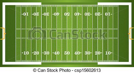 Clip Art of Football Field