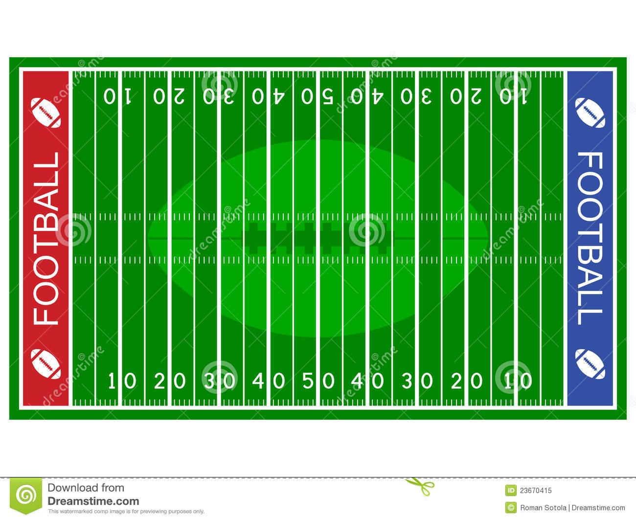 Clip Art of Football Field