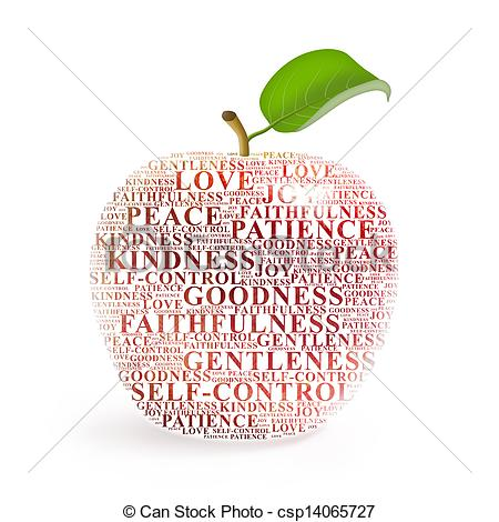 Clip Art Of Fruit Of The Spirit Apple Representing The Fruit Of The