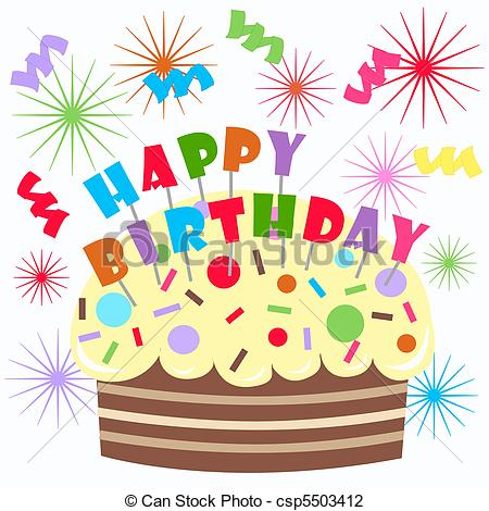 Clip Art Of Happy Birthday Ca - Clip Art Birthday