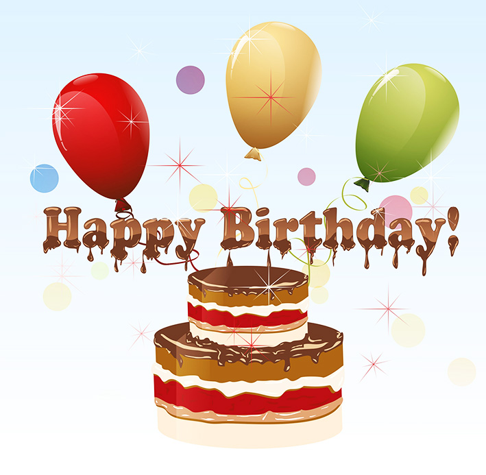 ... Clip art of happy birthday cake