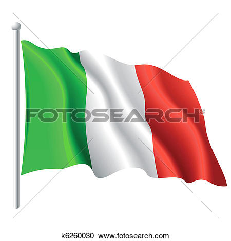 Clip Art of Italian flag. k8044056 - Search Clipart, Illustration Posters, Drawings, and EPS Vector Graphics Images - k8044056.eps