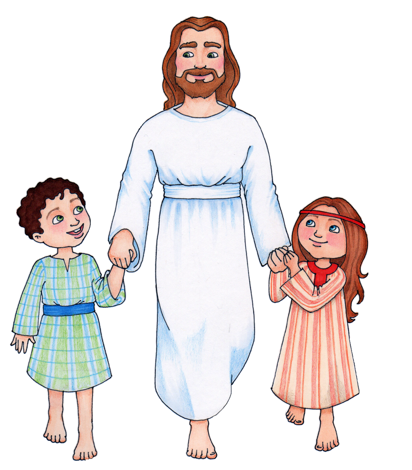 Clip art of jesus with .