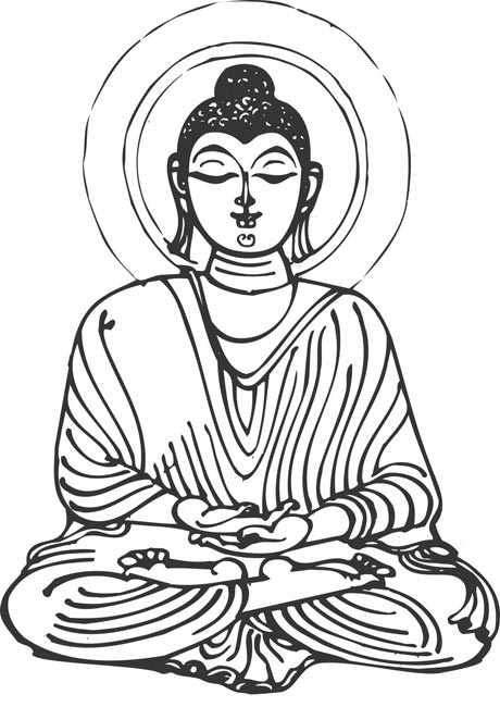 Clip Art of Lord Buddha