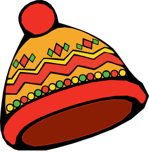 Clip art of many kinds of hats