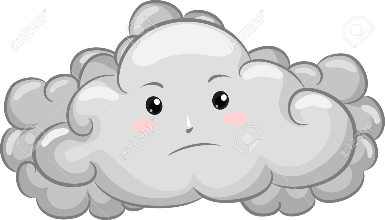 Clip Art Of Overcast Day. -Gloomy-Dark-C-Clip Art of Overcast Day. -Gloomy-Dark-Cloud-Mascot- .-17