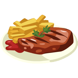 Clip art of steak and beans clipart clipart kid