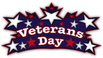 Clip Art Of The Words Veterans Day Surrounded By Red White And