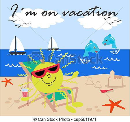 Clip Art Of Vacation Im On ..