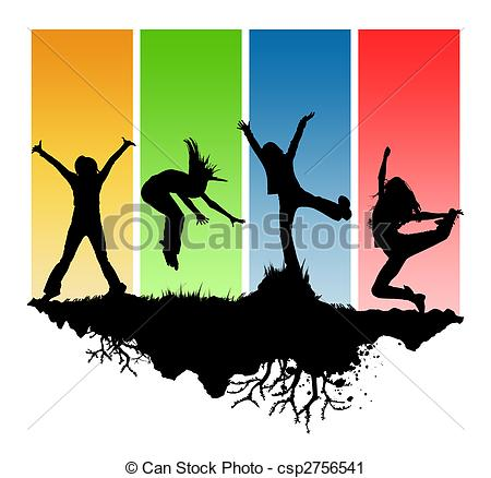 Clip Art Of Youth Explosion Clipart