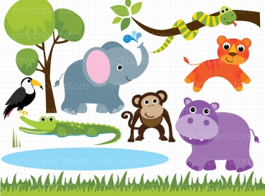 Clip art of zoo animals - .-Clip art of zoo animals - .-12