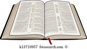Clip Art. Open Bible