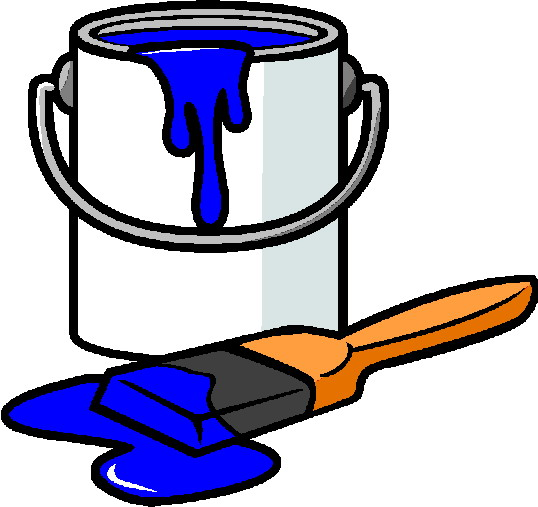 Spilled Paint Can Clipart. A