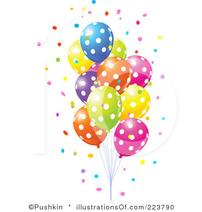 Clip Art Party Balloons .