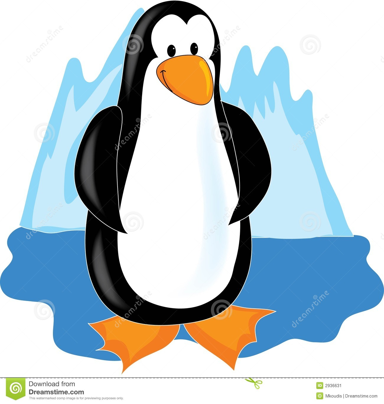Clip Art Penguins in Antarctica