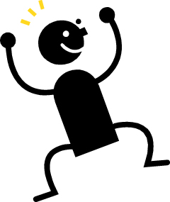 Clip Art Person Excited Clipart #1