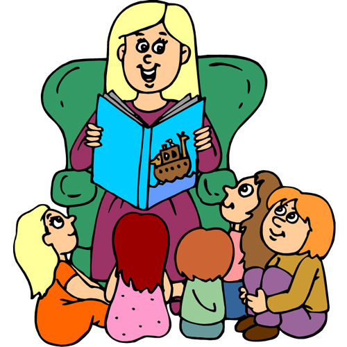Clip Art Person With Story Cl - Story Clip Art