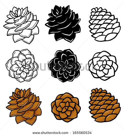 White Pine Cone Drawing Clip
