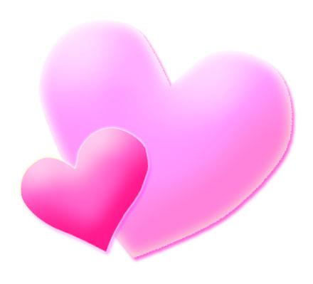 Clip Art Pink HEART - Clipart library