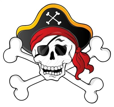 Clip Art Pirate Skull Theme 1