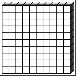 Base Ten Rod Clipart. 10 bloc