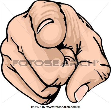 Clip Art Pointing The Finger  - Fotosearch Clipart