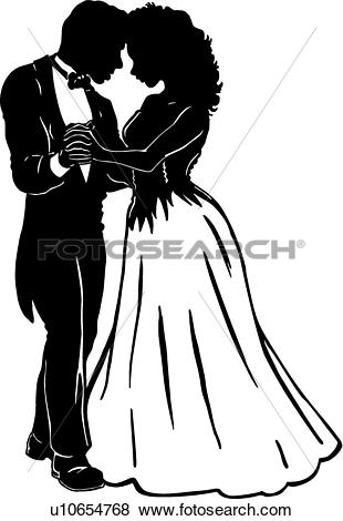 Clip Art - Prom Couple . Fotosearch - Search Clipart, Illustration Posters, Drawings,