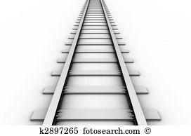 Clip Art. Rail track