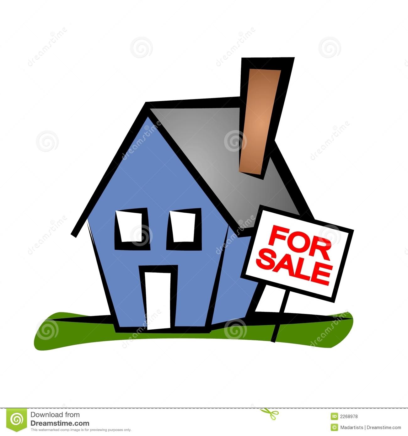 Clip Art Real Estate Illustration Of A B-Clip Art Real Estate Illustration Of A Blue House With A For Sale-1