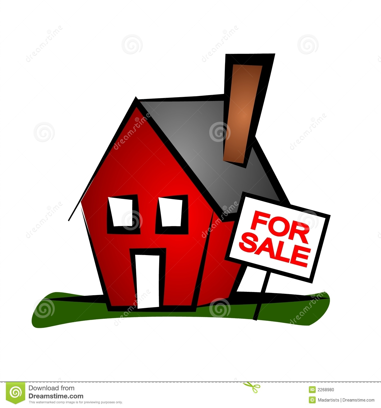 Clip Art Real Estate Illustration Of A L-Clip Art Real Estate Illustration Of A Little Red House With A For-2