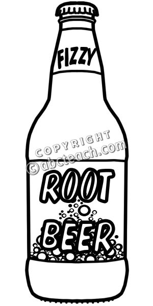 Clip Art: Root Beer Bu0026W .